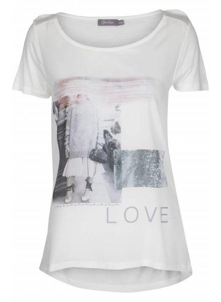 GEISHA T-shirt 82060 - 000000 - white/pink
