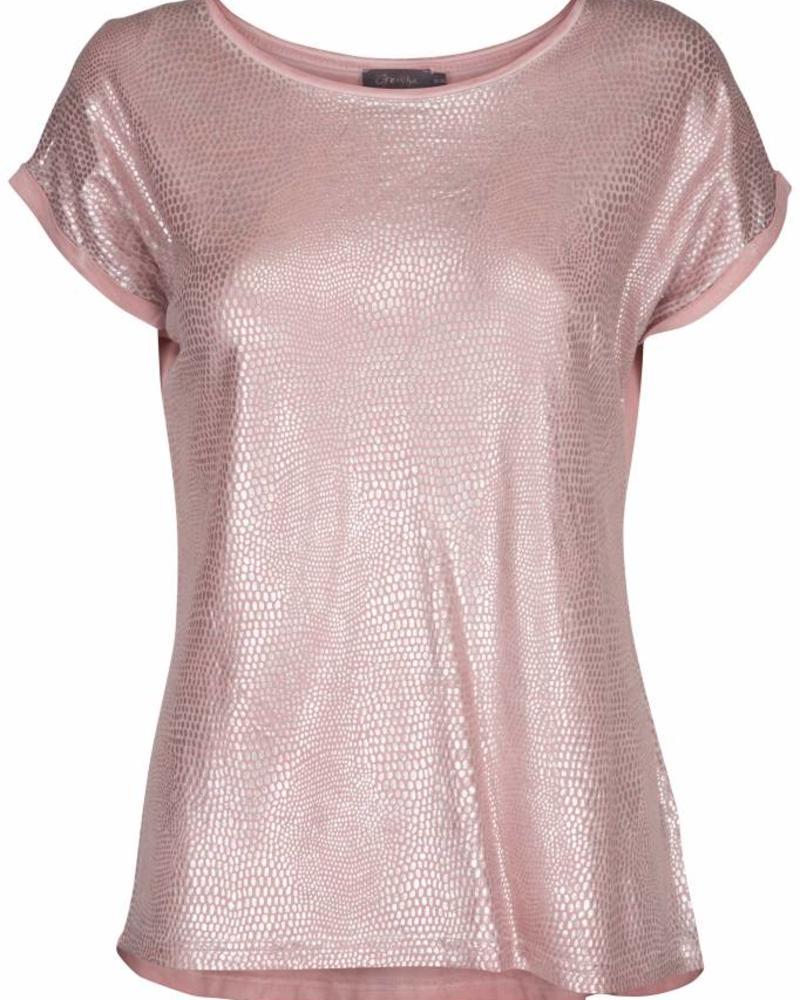 GEISHA T-shirt 82065 - 000421 - old pink/silver