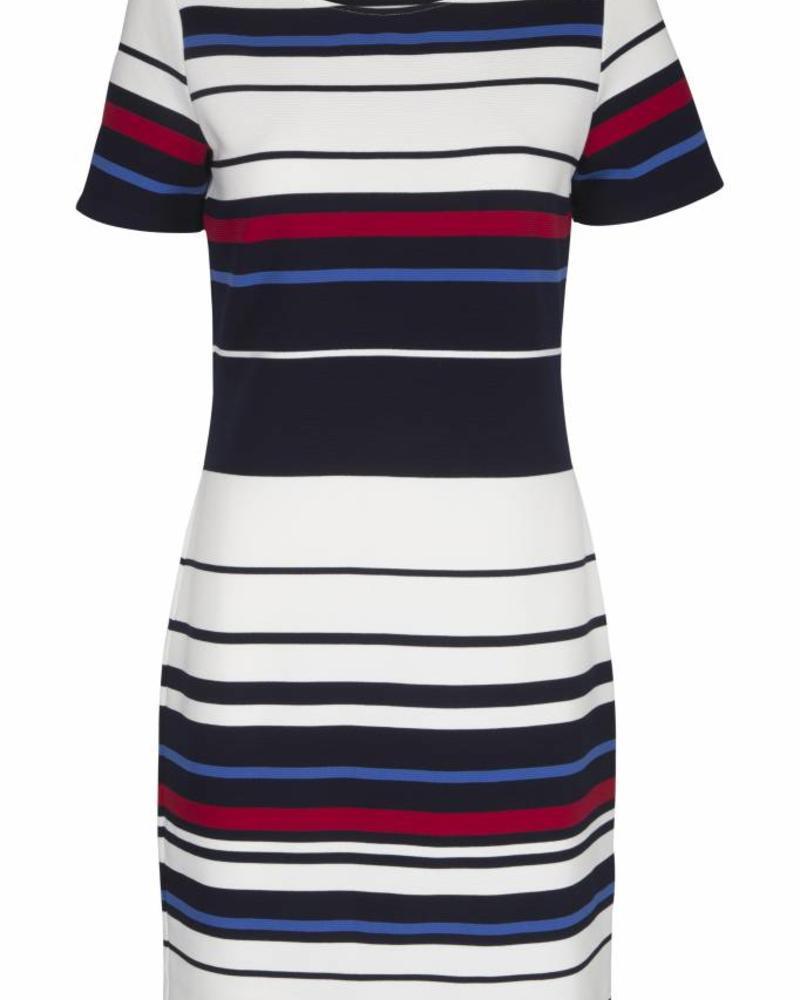 GEISHA Dress 87086 - 000675 - navy/offwhite/red