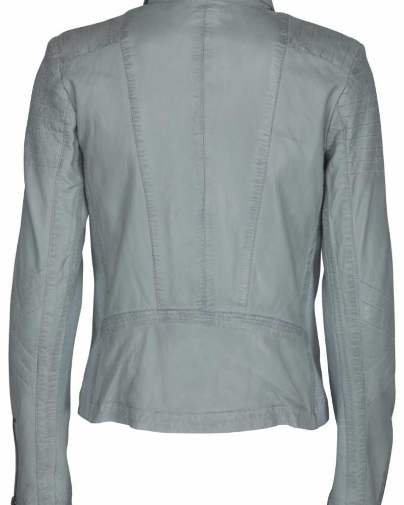 AIM AW15-L002 AM - AIM - Jacket with detachable collar - Pearl Blue
