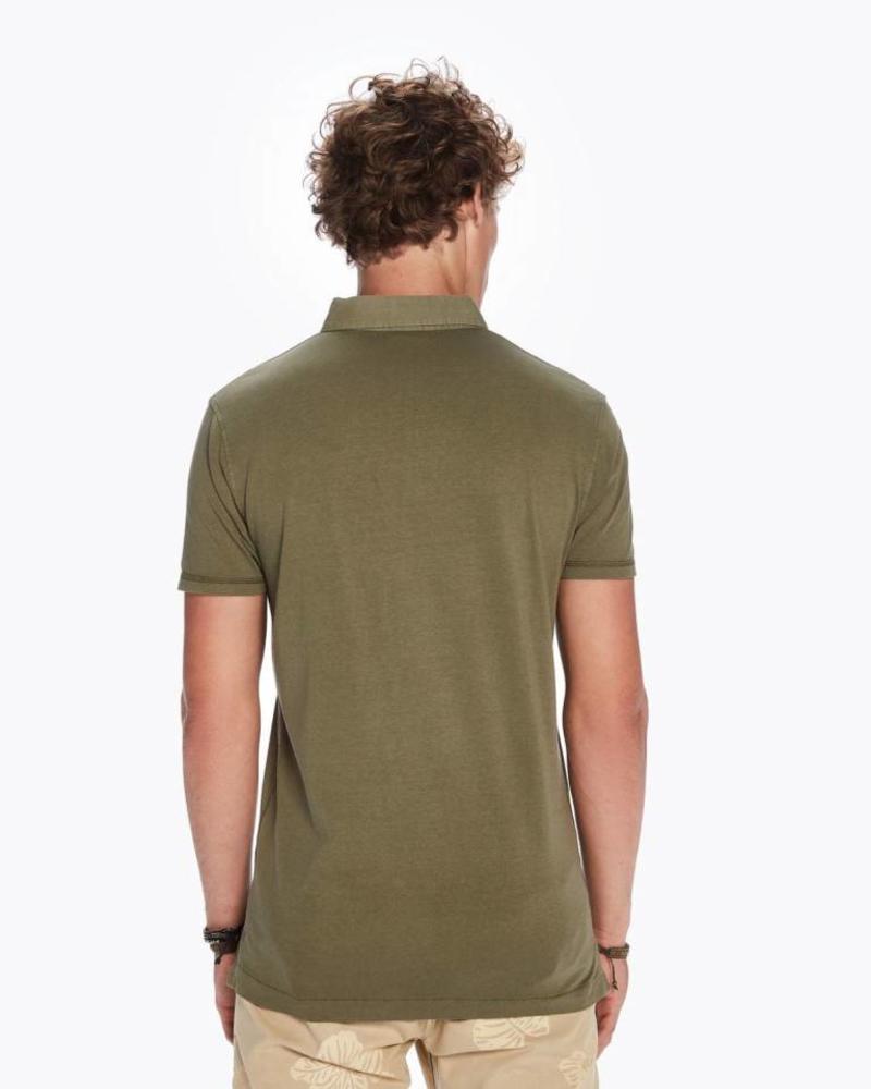 SCOTCH & SODA 142740 - Classic garment-dyed jersey polo - Army - 115
