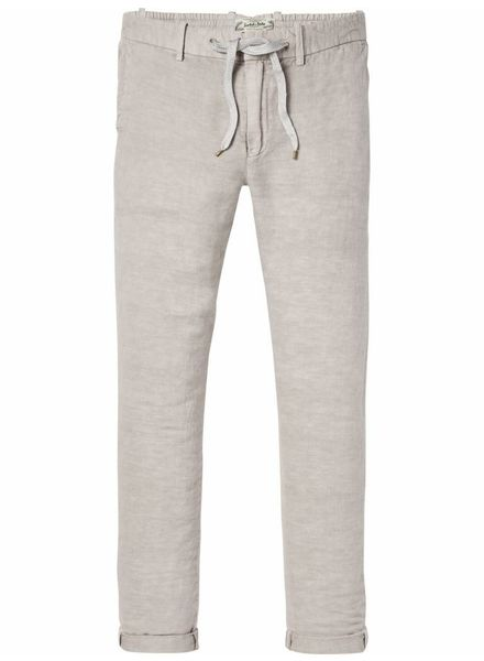 SCOTCH & SODA 142419 - Garment-dyed beach pant in linen blend quality - Stone - 135