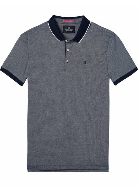 SCOTCH & SODA 142737 - Classic 2-Tone pique polo - Night - 2