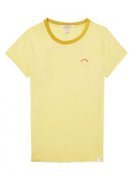 SCOTCH & SODA 143723 - Crew neck tee with various artworks and mercerised neckline - Lemon Yellow - 2031 - 18210151723