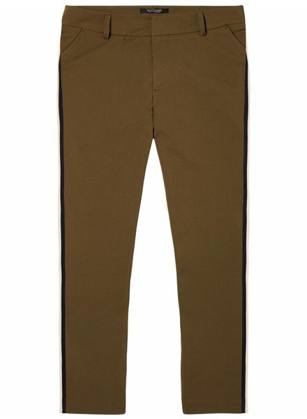SCOTCH & SODA 143519 - Tailored stretch pants with knitted side tape - Army - 15 - 18210183519