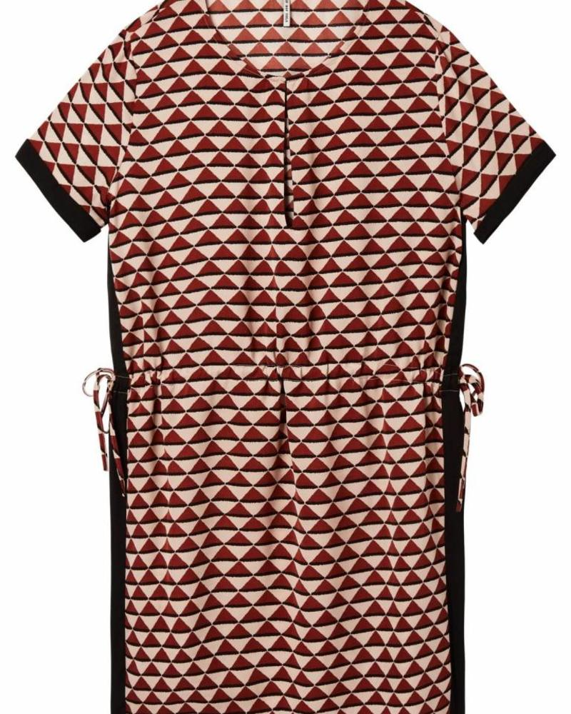 SCOTCH & SODA 143465 - Short sleeve printed dress with elasticated waist and contra - Combo T - 99 - 18210388465
