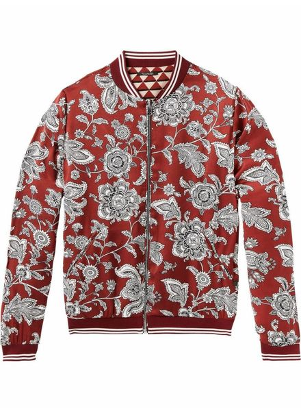 SCOTCH & SODA 143660 - Reversible printed bomber jacket with sporty ribs - Combo A - 17 - 18210331660