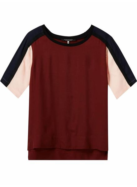 SCOTCH & SODA 143443 - Short sleeve colour blocked top with knitted tapes - Combo A - 17 - 18210353443