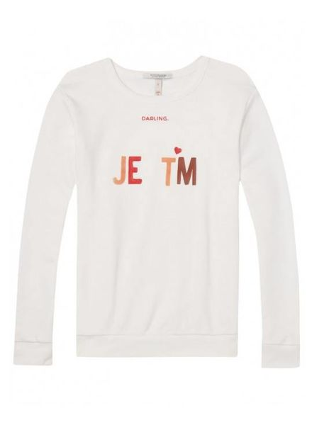 SCOTCH & SODA 143683 - Clean crew neck sweat with various artworks - Off White - 1 - 18210340683