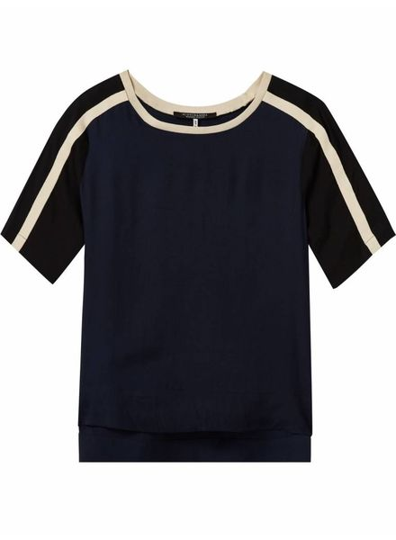 SCOTCH & SODA 143443 - Short sleeve colour blocked top with knitted tapes - Combo B - 18 - 18210353443