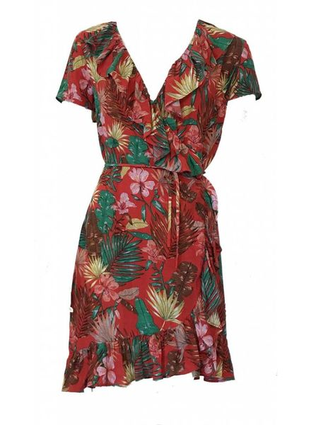 FREEBIRD BELLE-LEAF Dress Red