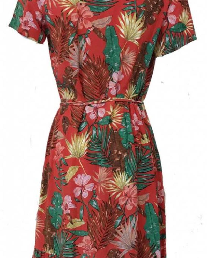 FREEBIRD BELLE-LEAF Dress Red