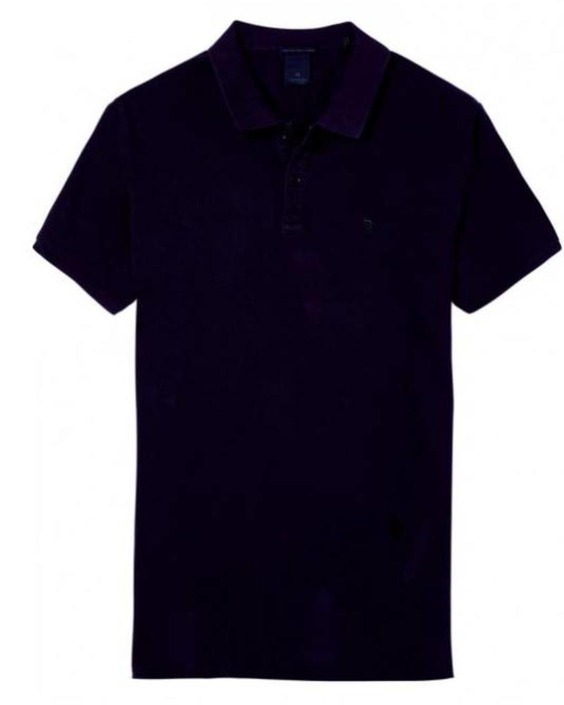 SCOTCH & SODA 142734 - Classic garment-dyed pique polo - Navy - 4
