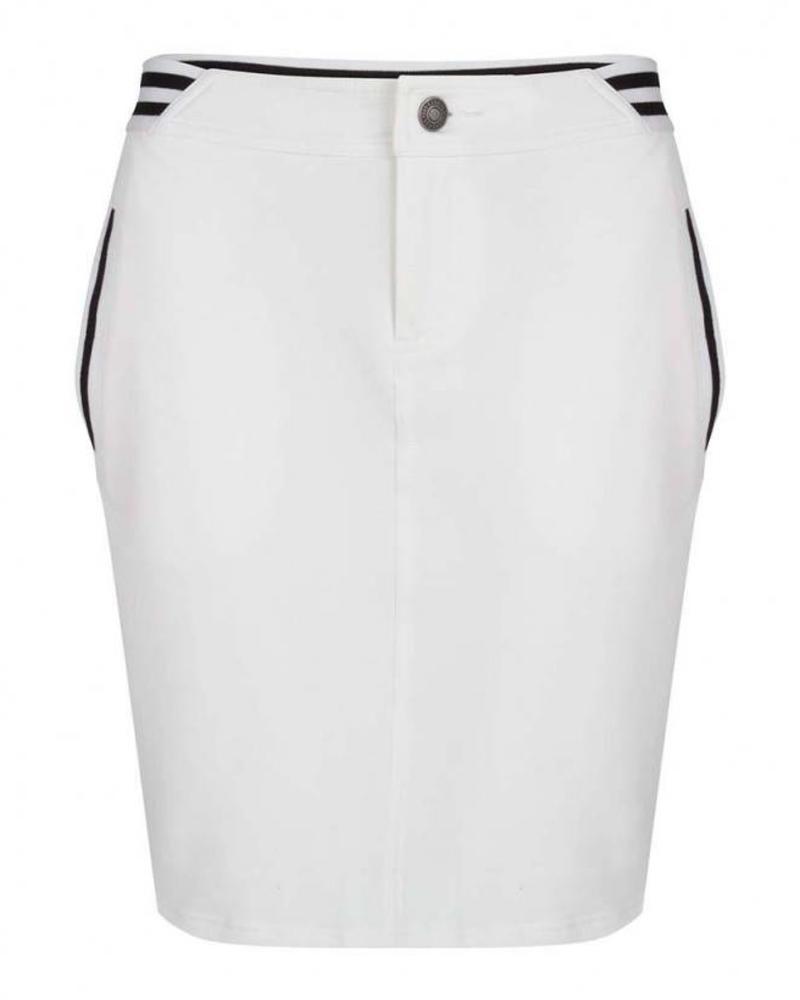 ESQUALO Skirt sweat tape - Off White