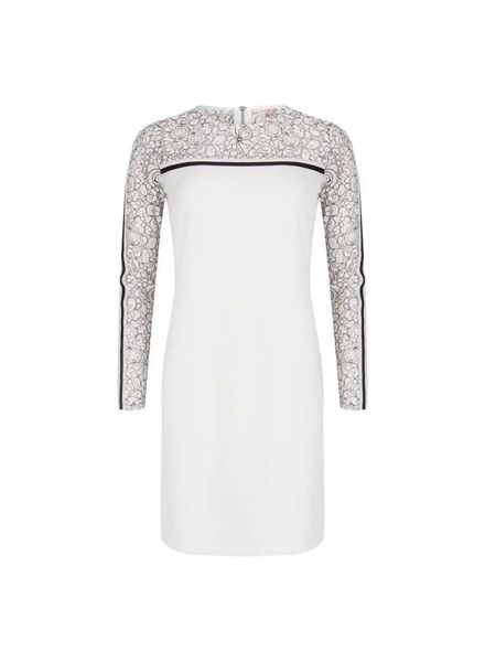 ESQUALO Dress lace print - Off White