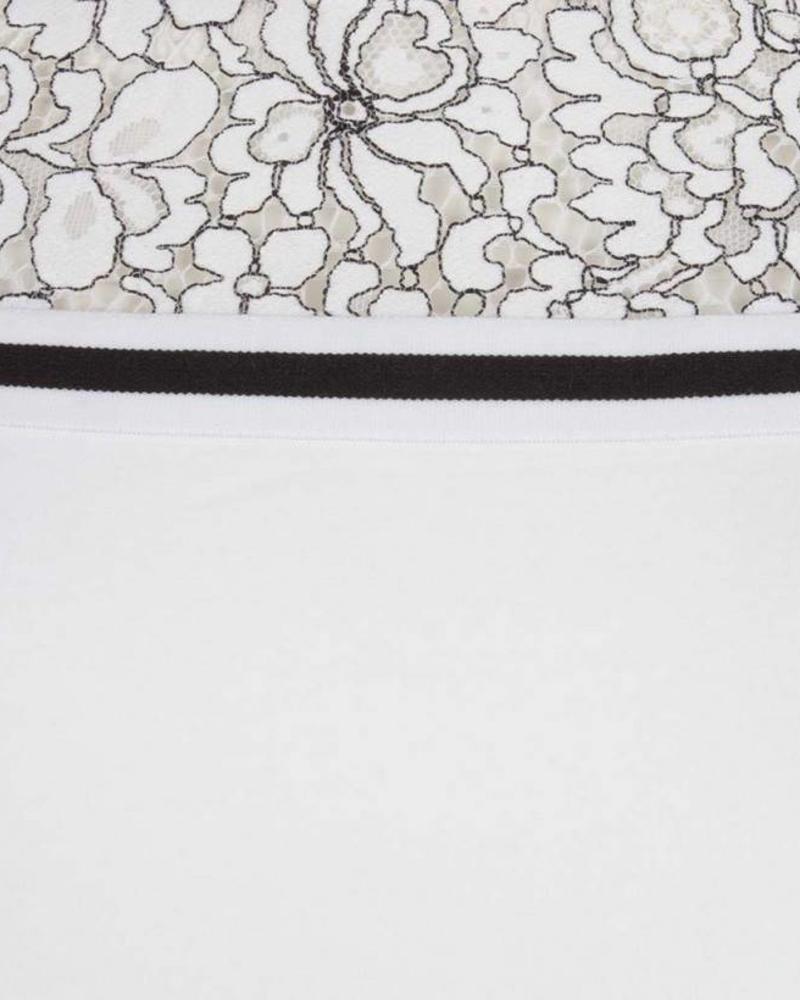 ESQUALO Dress lace print - Off White
