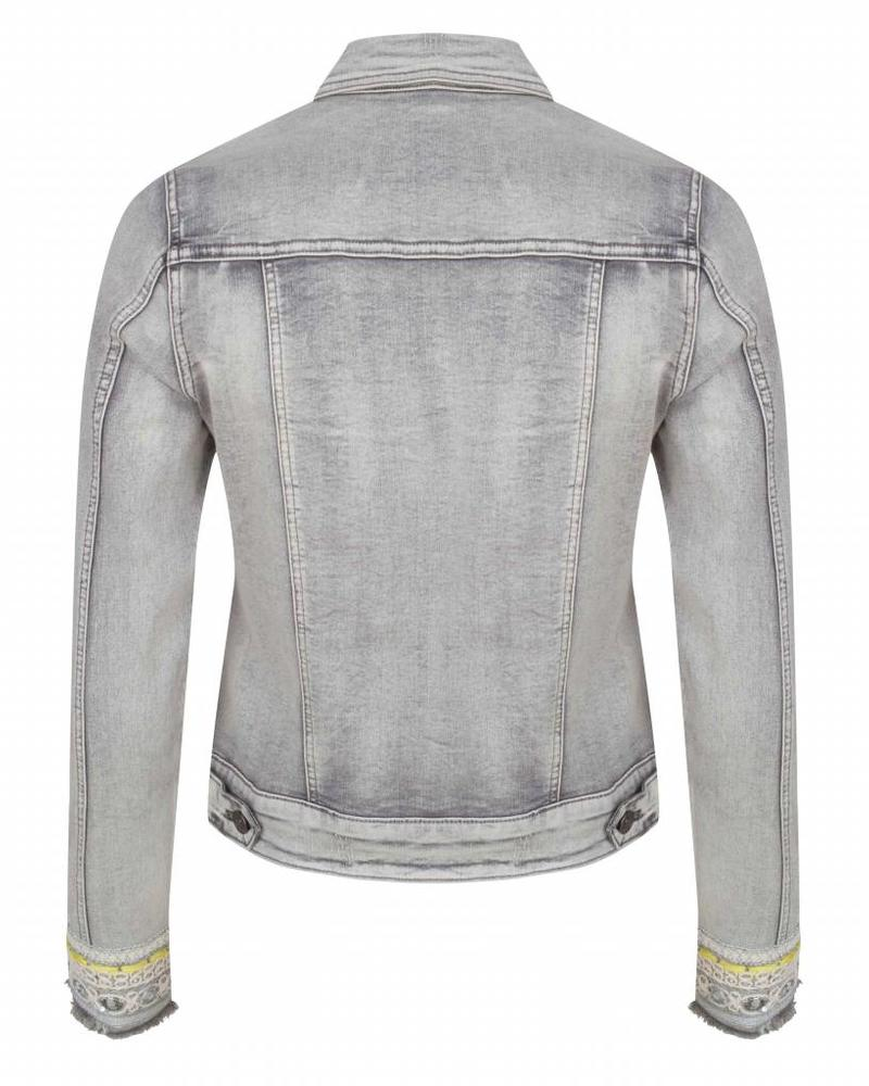 ESQUALO Jacket jeans tapes - Grey