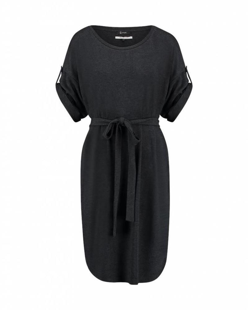 SIMPLE DAVIS - Dress - Dark Grey Melange