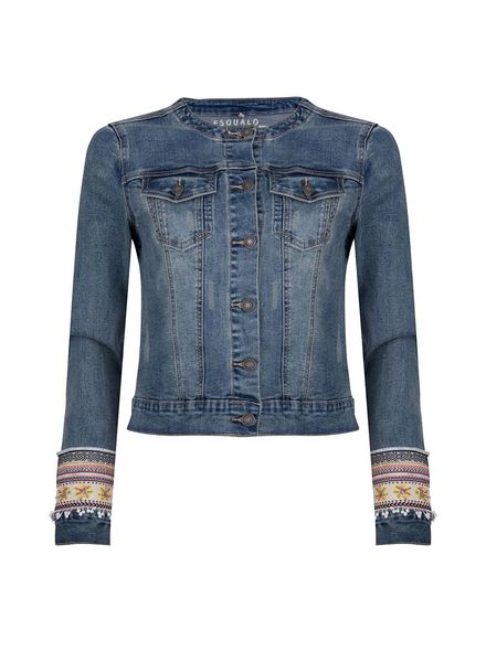 ESQUALO Jacket jeans tap blue