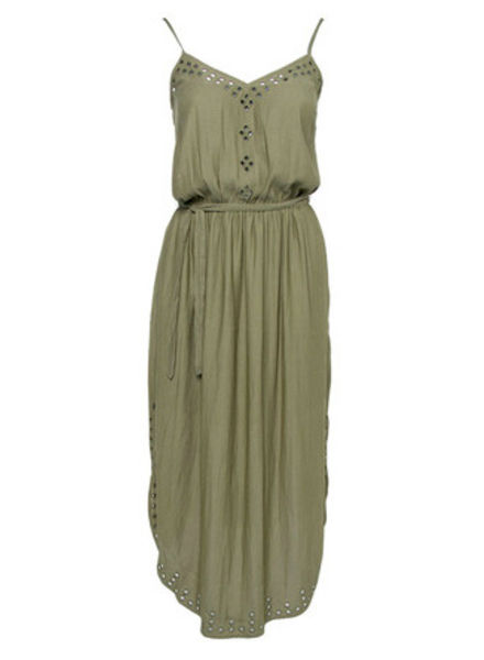 SCOTCH & SODA 133192 - Strappy summer dress with cutouts and high shirt tail hem / - Army - 115 - 18210388811