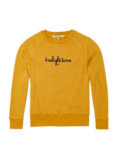 SCOTCH & SODA 144928 - Crew neck relaxed fit sweat with '7 lights of day' artworks - Sahara - 1942 - 18210240928