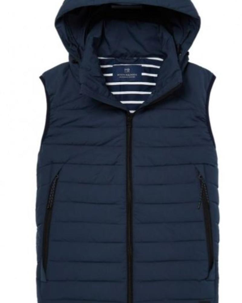 SCOTCH & SODA 142311 - Hooded quilted body warmer in peach nylon quality - Steel - 562
