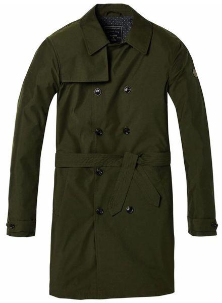 SCOTCH & SODA 142301 - Trench coat in peach nylon quality - Army - 115