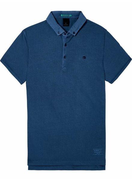 SCOTCH & SODA 142740 - Classic garment-dyed jersey polo - Worker Blue - 81