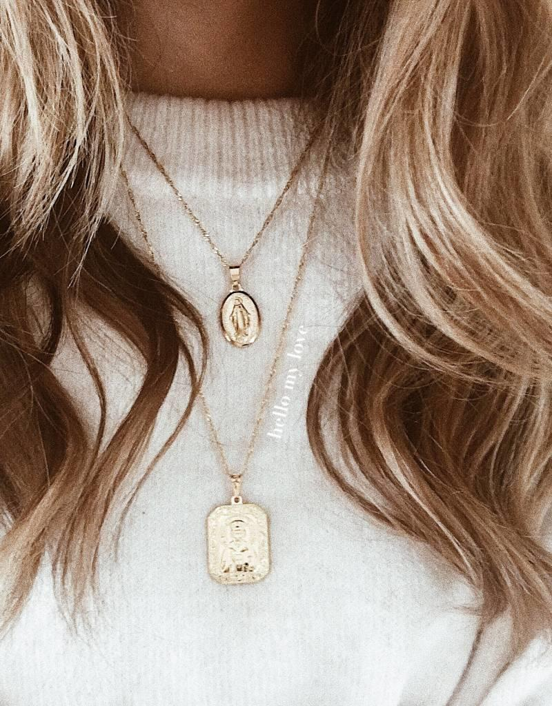 Gold Heart Of Mary Necklace