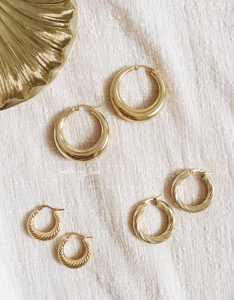 Gold Rosie Hoop Earrings