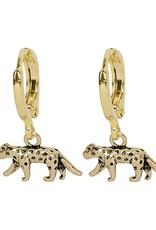 Gold Wild Leopard Earrings