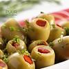 Groene olijven Bio met paprika 250 gr Spanje