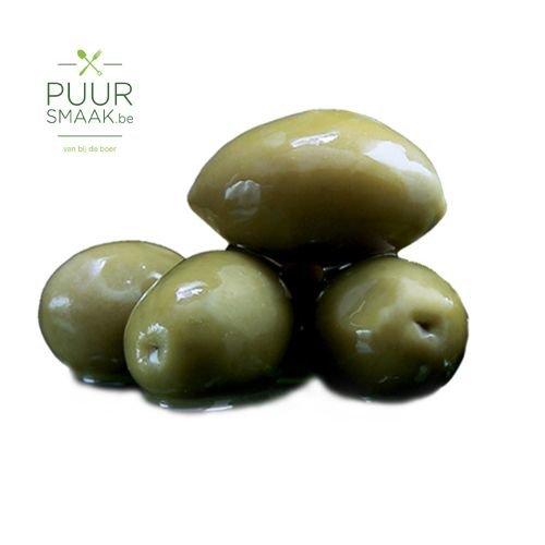 Groene olijven Bio heel 250gr