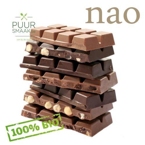 Nao Bio Chocolade Melk met hazelnoten