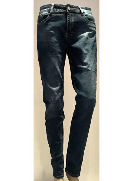 Skinny jeans donker blauw