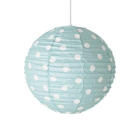 Paper pendant lamp white dots