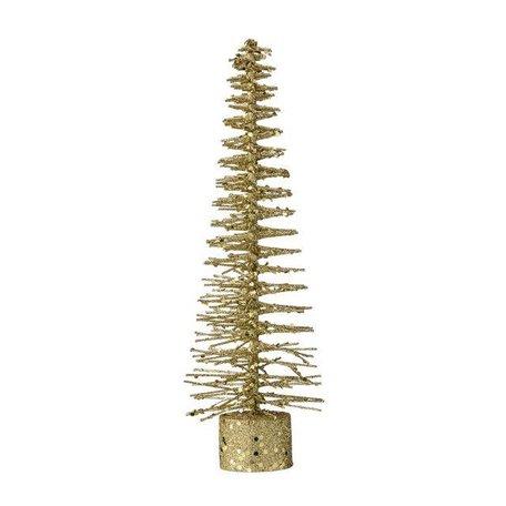 Christmas tree deco gold glitter