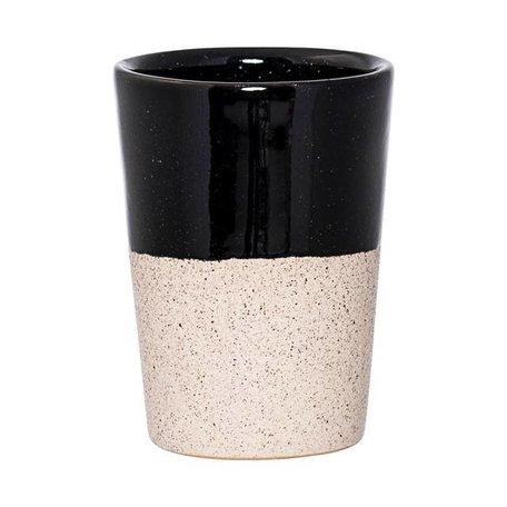 Dipped cup Barbara natural / black