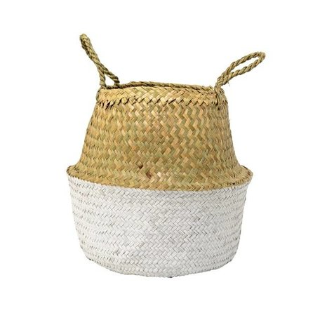 Dipped wicker basket natural / white