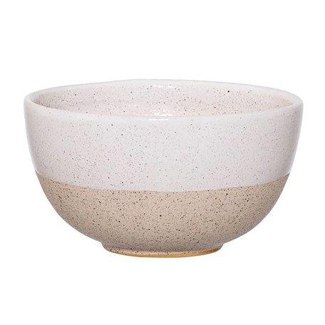 Dipped bowl Barbara White / Natural