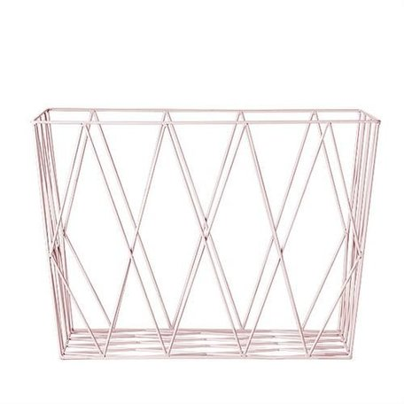 Wire basket blush