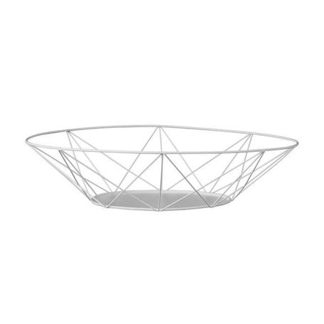 Wire basket white
