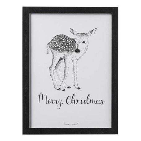 Frame Deer Merry Christmas