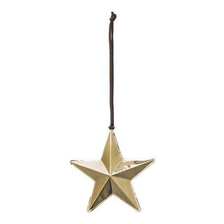 Ornament star gold big