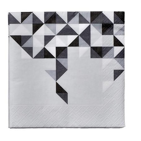 Zwart wit servetten