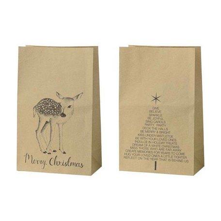 Set van 2 Xmas paperbag Deer / kerstboom