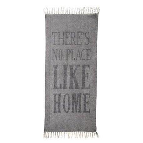 Vloerkleed no place like home - grijs