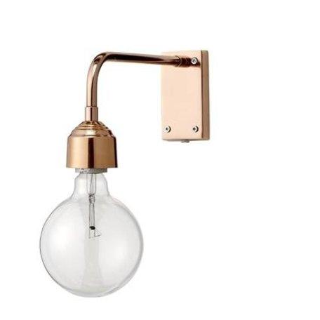 Wandlamp koper