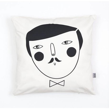 Black white - Cushion cover - Man