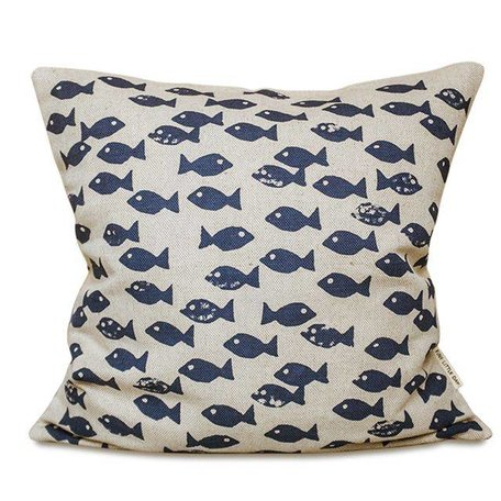 Cushion cover - Fish blue
